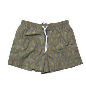 BOGLIOLI Taupe Printed Swim Shorts ~ Made in Italy