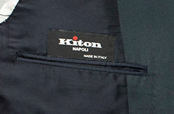 Kiton Napoli Navy Blue Cotton Suit 36 (EU 46) Handmade in Italy