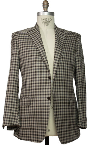 CANALI 1934 Wool Blend Two-Button Sportcoat 46 L (56L) Made in Italy