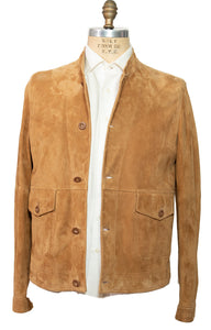 BOGLIOLI Genuine Tobacco Suede Blouson Jacket L (EU 54) Made in Italy