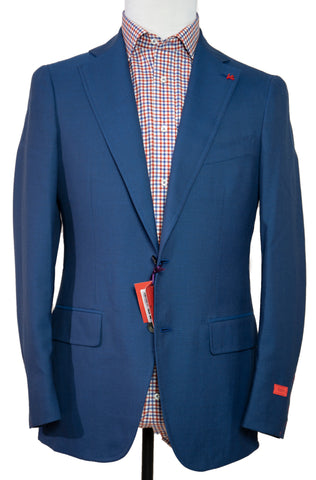 ISAIA Napoli Two-Button Royal Blue Sportcoat 38 (EU 48) Handmade in Italy