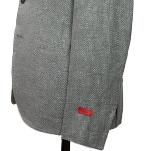 ISAIA Napoli Two-Button Gray Sportcoat 40 (EU 52) Handmade in Italy