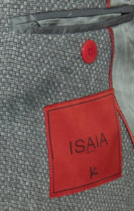 ISAIA Napoli Gray Wool Blend Two-Button Sportcoat 40 (EU 52) Handmade in Italy