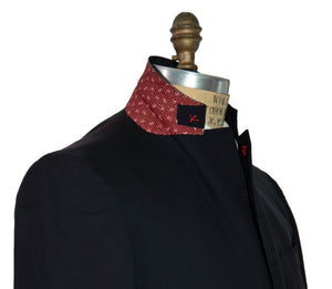 ISAIA Napoli Two-Button Black Sportcoat 40 (EU 52) Handmade in Italy
