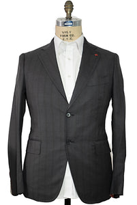 ISAIA Napoli Gray Two-Button Suit 42 (EU 54) Handmade in Italy ~ Super 160s Wool