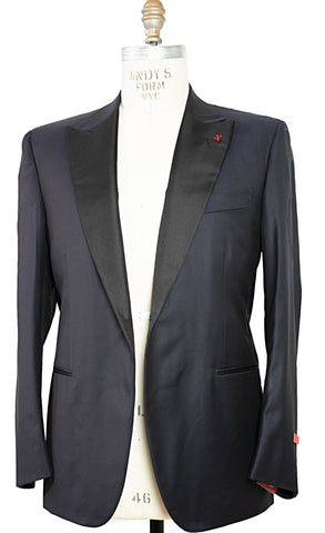 ISAIA Napoli Midnight Blue Tuxedo Suit 48 (EU 62) Handmade in Italy