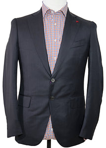 ISAIA Napoli Navy Two-Button Wool Suit 36 (EU 46) Handmade in Italy