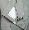 ISAIA Napoli Gray Lightweight Wool Suit 38 (EU 48) Handmade in Italy