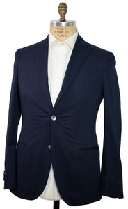 BOGLIOLI K. Jacket Navy Blue Cotton Slim-Fit Sportcoat 38 (EU 48) Made in Italy