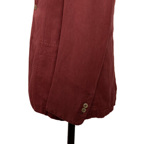 BOGLIOLI Dyed Burgundy Cotton & Linen Sportcoat 40 (EU 50) Made in Italy