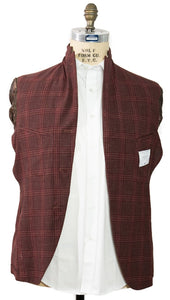 BOGLIOLI Burgundy Plaid Wool & Linen Sportcoat ~ Made in Italy