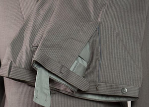 BOGLIOLI Slim-Fit Gray Pinstripe Wool Suit 46 (EU 56) Made in Italy