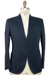 BOGLIOLI Blue Dyed Slim-Fit Cotton Suit 44 (EU 56) Made in Italy