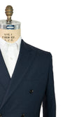 BOGLIOLI Double Breasted Blue Wool Suit 42 (EU 52) Made in Italy
