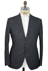 BOGLIOLI Blue Denim Slim-Fit Suit 42 (EU 52) Made in Italy