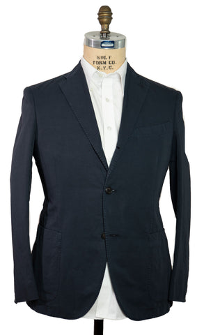 BOGLIOLI Dyed Blue Slim-Fit Cotton & Linen Suit 42 (EU 52) Made in Italy