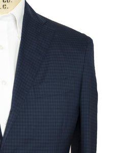 BOGLIOLI Slim-Fit Blue Gingham Suit 42 (EU 52) Made in Italy