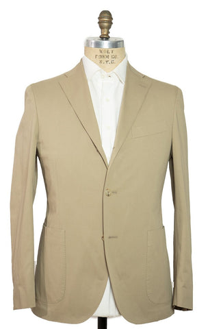 BOGLIOLI Beige Slim-Fit Cotton Suit 40 (EU 50) Made in Italy