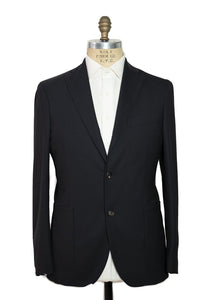 BOGLIOLI K. Jacket Black Slim-Fit Extrafine Wool Suit 46 (EU 56) Made in Italy