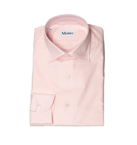 Morigi Extrafine Cotton Pink Dress Shirt ~ Hand-made in Napoli, Italy