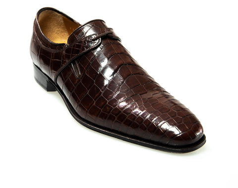 Stefano Ricci Genuine Crocodile Slip-on Oxford Shoes ~ Hand-made in Italy
