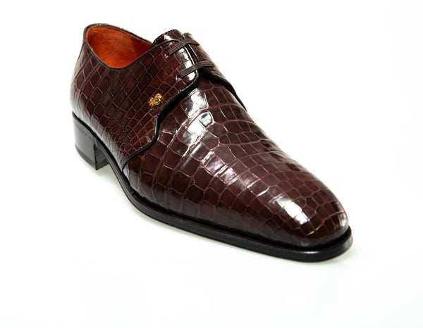 Stefano Ricci Genuine Crocodile Oxford Shoes 8.5 (EU 7.5) Hand-made in Italy