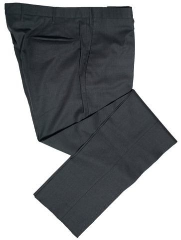 INCOTEX Super 130's Wool Charcoal Gray Dress Pants ~ Skin Fit