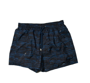 BOGLIOLI Black/Blue Printed Swim Shorts ~ Made in Italy