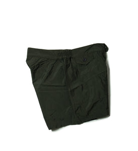 BOGLIOLI Solid Dark Green Swim Shorts ~ Made in Italy
