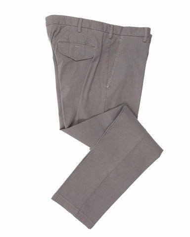 CANALI 1934 Mud Gray Cotton Chino Pants ~ Made in Italy