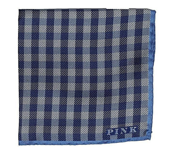 Thomas Pink Check Print Silk Pocket Square ~ Made in Italy