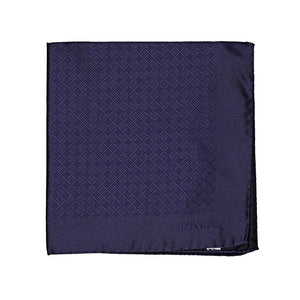 Thomas Pink Woven Silk Royal Purple Pocket Square ~ Made in Italy