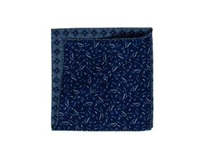 Stenstroms Printed Wool & Silk Reversible Pocket Square ~ Made in Italy