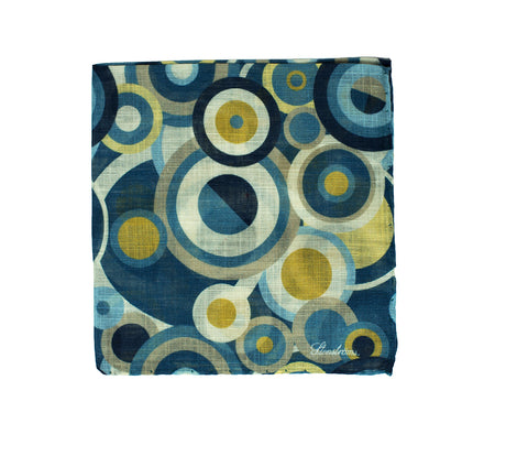 Stenstroms Printed Cotton & Linen Pocket Square ~ Made in Italy