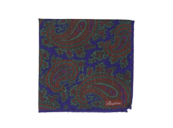 Stenstroms Printed Wool Pocket Square ~ Made in Italy