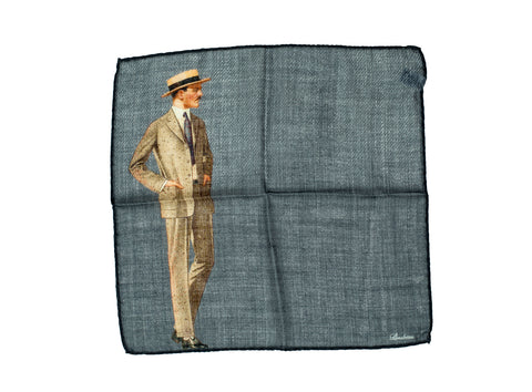 Stenstroms Wool & Silk Pocket Square ~ Made in Italy