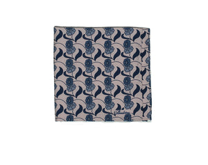 Stenstroms Printed Cotton & Silk Pocket Square ~ Made in Italy