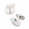 "Paul Smith London ""Naked Lady"" Sterling Silver Cufflinks"