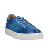 SANTONI Blue Patina Leather Sneakers Shoes ~ Hand-made in Italy