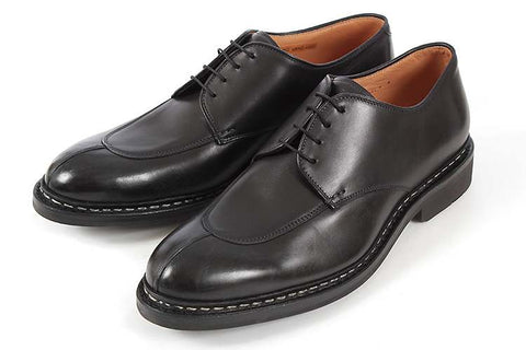 Heschung Rhus Algonquin Split-Toe Black Leather Shoes ~ Norwegian Construction