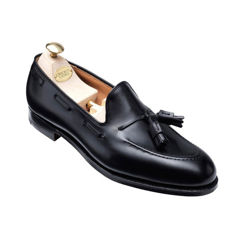 Crockett & Jones Cavendish Black Leather Loafers Shoes ~ Made in England