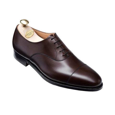 Crockett & Jones Connaught Brown Leather Cap-Toe Shoes ~ Made in England