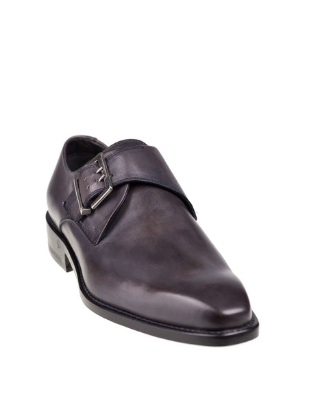 DI MELLA Napoli Gray Monkstrap Shoes ~ Hand-made in Italy ~ Fatte a Mano