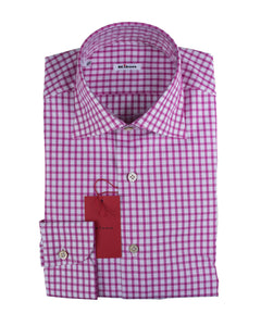 Kiton Napoli Superfine Cotton Modern Fit Dress Shirt ~ Handmade in Italy