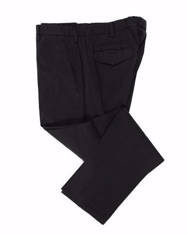CANALI 1934 Black Cotton Chino Pants ~ Made in Italy