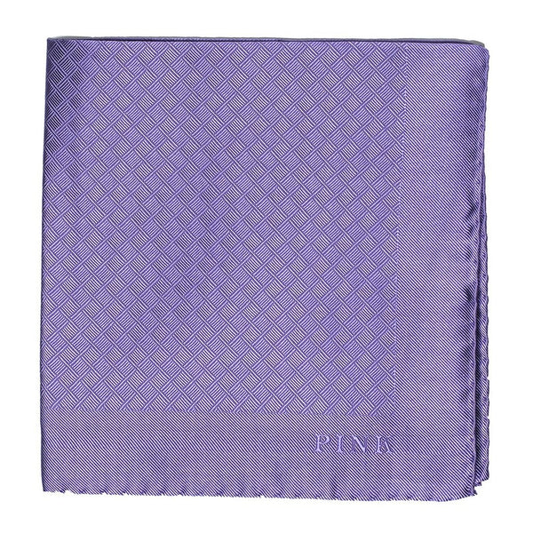 Thomas Pink Woven Silk Lavender Pocket Square ~ Made in Italy