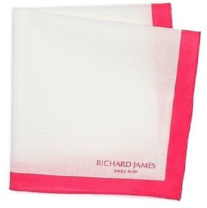 Richard James Savile Row Cotton Pocket Square ~ Made in Italy