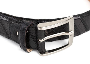 MORIGI Genuine Crocodile~Ostrich~Leather Adjustable Belt - Made in Italy