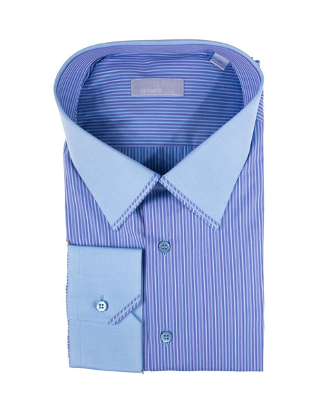STEFANO RICCI Superfine Cotton Dress Shirt 19.5 (49) Handmade in Italy