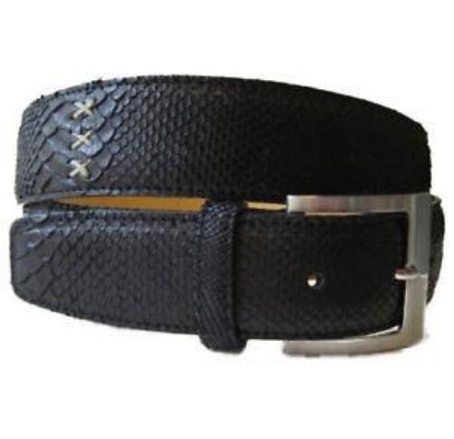 MORIGI Genuine Python & Leather Adjustable Belt ~ Made in Italy